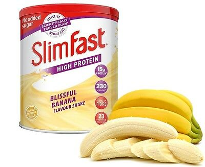 SlimFast Weight Loss Powder Shake High Protein Replacement Meal Diet Banana Sip