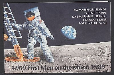 MARSHALL ISLANDS BOOKLET : 1989 First Man on the Moon   SG SB18 MNH