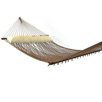 Rope Hammock with Spreader Bars, Polyester, 450-Pound Capacity -Multiple Options
