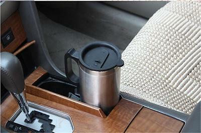 New 12V Stainless Steel Silver Car Heated Cup Electric Mug Kettle Jug 450ml SM