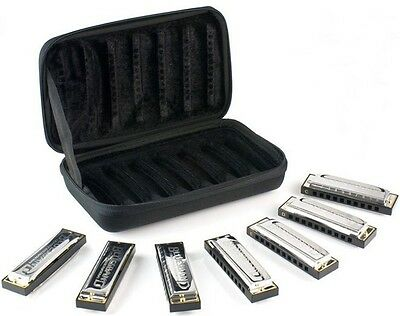 Hohner 15017 Bluesband Harmonica 7 Pack with Case - Keys of G, A, Bb ,C, D ,E, F
