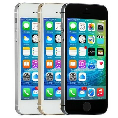 Apple iPhone 5s 16GB Gray Silver Gold Factory Unlocked IOS 4G LTE Smartphone A