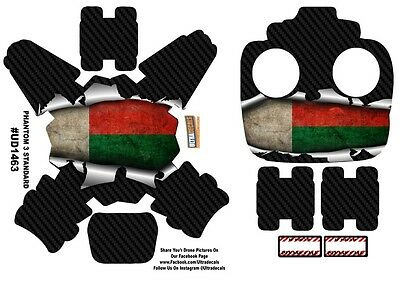 Madagascar Flag DJI Phantom 3 Standard Decal Skin Wrap Sticker