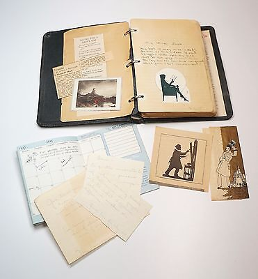 1940s Scrapbook Handwritten Poems Notes Valentine Cards Sweetheart Memorabilia