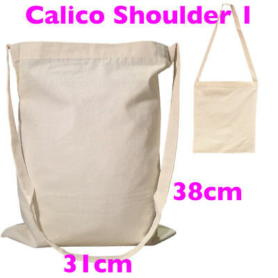 Library Calico Bag Style 1 Bulk Calico Bags Calico Shoulder Bags Pkts:5-200