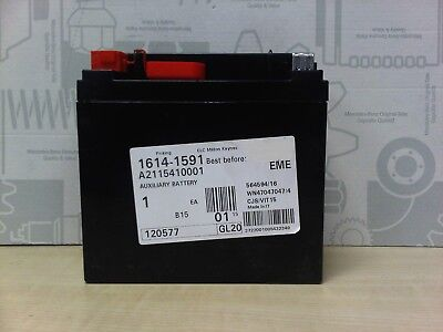 Genuine mercedes benz e class aux auxiliary battery 12v for Genuine mercedes benz battery