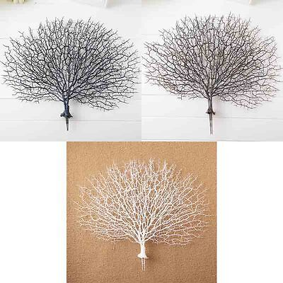 Silk Flowers coral branch peacock shape Artificial lovely crafts decoration