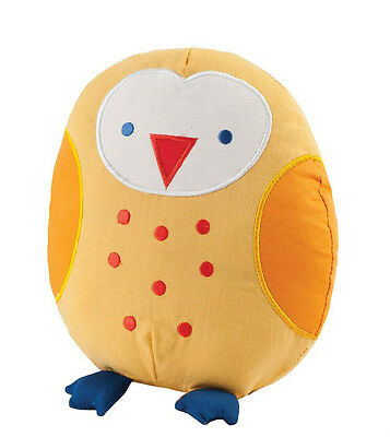 Childrens Baby Decorative Novelty Bedroom Cushion Pillow Plush Toy- Owl Yellow