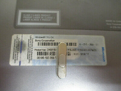 Broken Laptop Part With Windows 7 Pro COA Licence Sticker (6006)
