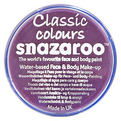 Snazaroo LILAC 18ml FACE PAINT Fancy Dress Party Stage Make Up Classic Colours