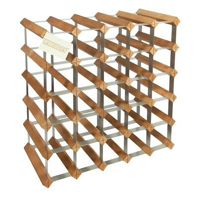 25 Bottle Wood Wine Rack Holder Storage Stand Organiser - Floor Free Standing