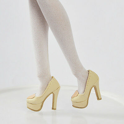 """Sherry Shoes Pumps for Tiny Kitty 10"""" Tonner 12"""" Fashion Royalty Beige 29MM 2-12"""