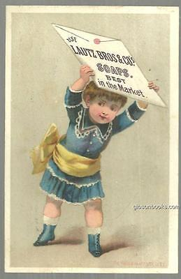 Victorian Trade Card for Lautz Bros. Soaps with Little Girl