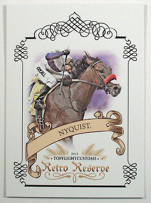 Nyquist Retro Reserve Trading Card Kentucky Derby Limited Numbered To 25 Hot Fs
