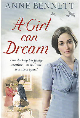 A Girl Can Dream by Anne Bennett - New Paperback Book