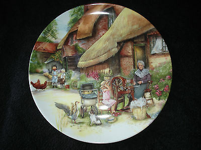 Royal Doulton - Old Country Crafts - The Spinner - Collector Plate