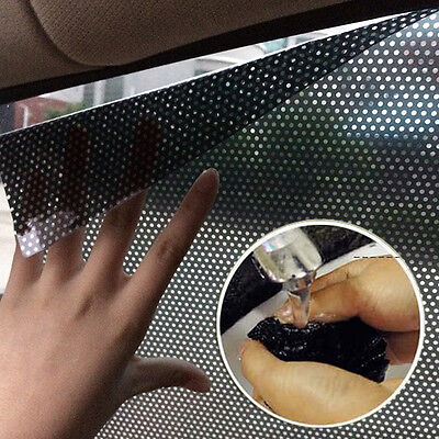 2x Black Static Protection Sun Block Shade Cover For Car Auto Window Side Shield