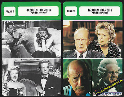 JACQUES FRANCOIS Actor FRENCH BIOGRAPHY PHOTO 2 CARDS