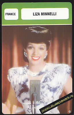 LIZA MINNELLI Movie Star FRENCH BIOGRAPHY PHOTO CARD
