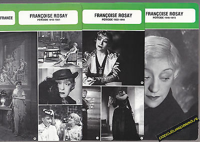 FRANCOISE ROSAY Actress FRENCH BIOGRAPHY PHOTO 3 CARDS