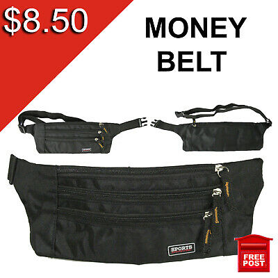 Money Belt travel bag secure waist zip
