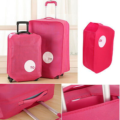 """28"""" Fushia Travel Luggage Suitcase Protective Cover Anti Dust Non-woven Pouch"""