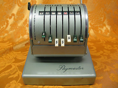 Vintage Paymaster Check Writing Machine Series X-550 Chicago Illinois