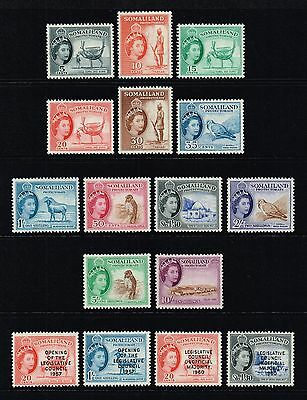 Somaliland 1953-58 Queen Elizabeth II set to 10s., MH (SG#137/148-149/152)