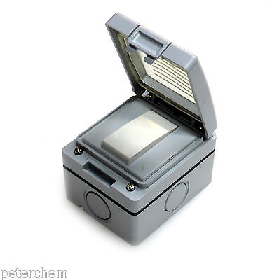 10 amp switch 2 way 1 gang IP56 weatherproof outdoor garden light 10A x 1 - 10