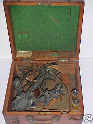 Antique English Sextant - Mfg By G.f. Berry West Hartlepool Orig Box  Mid 1800's
