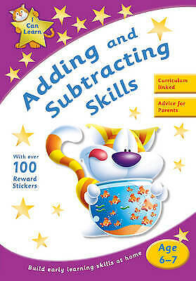 Learn Adding and Subtracting Skills Age 6-7 Activity Sticker Book New