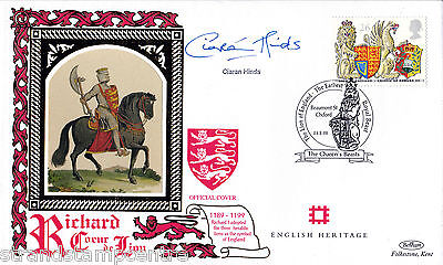 1998 Queen's Beasts - Benham Small Silk - Signed by CIARAN HINDS