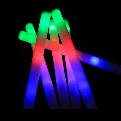 5pcs 19in Light-up Foam Stick Personalized LED Multicolor Copious Flashing Wand