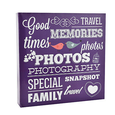 Large Purple Slip in Ring Binder Travel Memories 6'x4' 500 Photos Album AL-9574