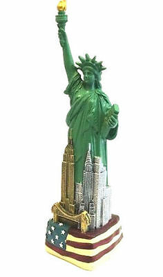 "9"" Statue of Liberty Figurine w.Flag Base and New York City SKYLines from NYC"