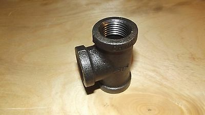 1 - 2 Inch Tee Black Malleable Iron Pipe Threaded Fitting -Free Ship