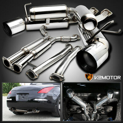 For 03-09 Nissan 350Z Z33 Fairlady Z Stainless Dual Catback Exhaust