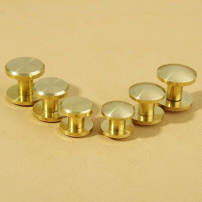 10×6mm Leather Craft Belt Wallet Solid Brass Nail Rivets Chicago Screws
