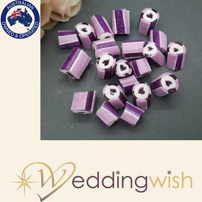 500g Rock Candy Wedding Favour/Bomboniere - Purple Lilac Hearts Fast Dispatch