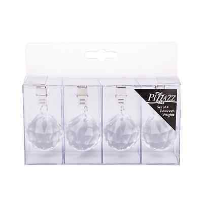 NEW Pizzazz Acrylic Crystal Tablecloth Weights 4pk