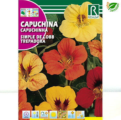 Capuchina Simple de Lobb Trepadora ( 10 gr / 65 semillas o más ) seeds