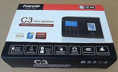 ANVIZ Wall-Mounted C3 FingerPrint & RFID Card TIME Attendance