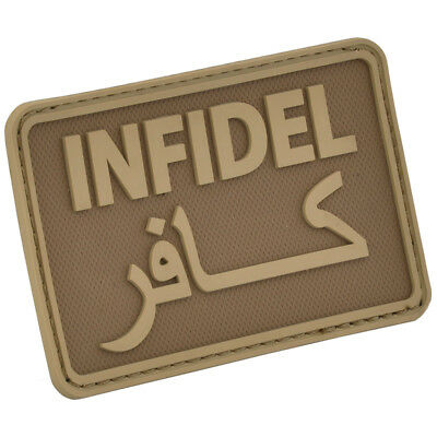 Hazard 4 Infidel Morale Joke Patch Rubber Pvc Airsoft Army Badge Coyote
