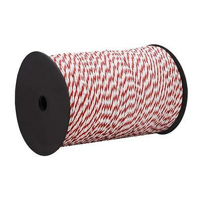 500m Long 4mm Wide Roll Animal Electric Fence Energiser Poly Rope UV Stabilised