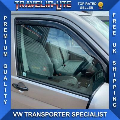 VW T5 T5.1 T6 Transporter Wind Deflectors Tinted Great Fit In Window Channel