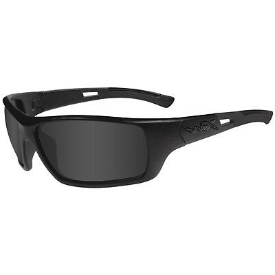 Wiley X Slay Glasses Black Impact Safety Ops Smoke Grey Lens Matte Black Frame