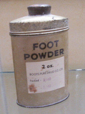 Genuine WW2 British Army Foot Powder Tin Full Early Date 1940 WWII Original 2oz