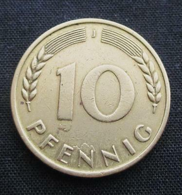 10 Pfennig Germany 1949 Oak Tree Leave #51