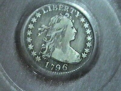 1796 Draped Bust Dime SLABBED PCGS VF 20 Silver 10c  22,135 Minted
