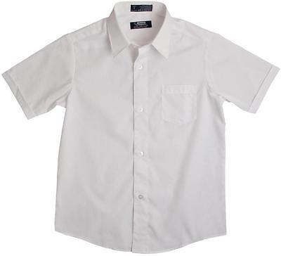 Boys new french toast white broadcloth button down short sleeve dress shirt